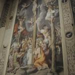 Dipinto di Giulio Romano in S. Andrea: Longino raccoglie il Sangue di Cristo